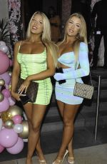 Jess & Eve Gale Arrive at the ISAWITFIRST Love Island party at Boujee bar in Manchester