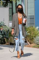 Jessica Alba Heads in for a day at her office in Santa Monica