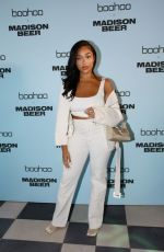 Jordyn Woods Attends boohoo x Madison Beer Launch Event at Pendry West Hollywood in Los Angeles