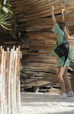 Josie Canseco Arrives at a private party in Tulum