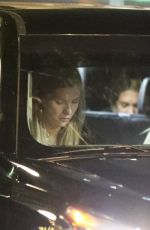 Josie Canseco Cozies up to a mystery man while leaving with some friends from Delilah in West Hollywood