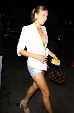 Josie Canseco Displays her toned and tanned legs arriving at a launch party at Catch LA in West Hollywood