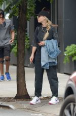 Kaley Cuoco Spotted having a smoke in Tribeca, New York