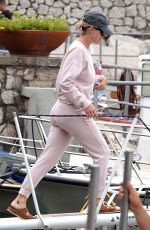 Katy Perry Pictured at the Port of Capri