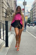 Kelly Bensimon Wearing designer Dennis Basso headed to an event this evening in New York