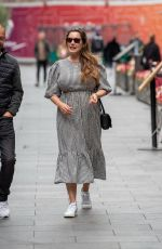 Kelly Brook Pictured leaving the Global Radio studios after the Heart Radio breakfast show in London