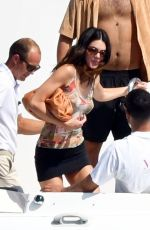 Kendall Jenner Shows off her svelte physique in her sexy multicoloured bikini out on her sun soaked holiday in Capri