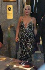 Lady Gaga Departs Radio City Music Hall on the final night of her concert series with Tony Bennett in New York