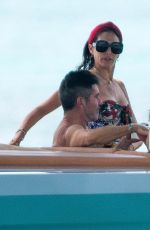 Lauren Silverman Chilled out on her boat on holiday in Barbados