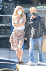 Leila George Stops by Pavilions after lunch in Malibu