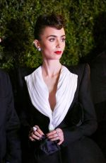Lily Collins Attends a Cartier event in West Hollywood
