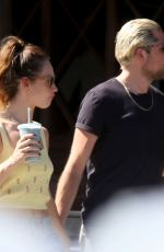 Lily James With boyfriend Michael Shuman on a hot summer