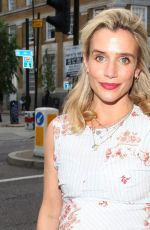 Lisa Dwan Seen attending Van Gogh: The Immersive Experience private view in London