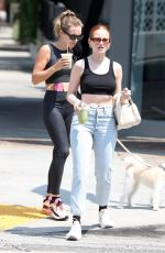Madelaine Petsch Juices it up with a friend at Cha Cha Matcha in West Hollywood