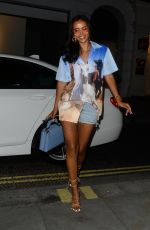 Maya Jama Puts on a leggy display as she heads to dinner at Stork In Mayfair, London