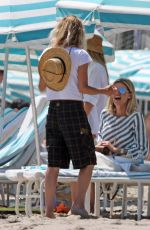 Meg Ryan Spends the day relaxing with a friend on a beach in Santa Barbara