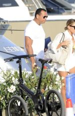 Melanie Collins Enjoying vacation with friends in Ibiza