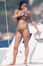 Michelle Rodriguez Shows off her sexy figure as she soaks up the hot Italian sunshine out on holiday in Porto Cervo