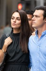 """Mila Kunis On set with """"The Luckiest Girl Alive"""" in Midtown"""