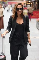 Myleene Klass Steps out in a smart blazer and trousers outside the Smooth Radio Studios in London