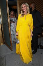 Nicky Hilton In a yellow dress arriving at a Cartier event in Los Angeles