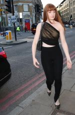 Nicola Roberts Was pictured arriving and leaving the private view of Van Gogh: The Immersive Experience in London