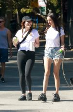 Nina Dobrev Goes for a hike in Griffith Park with her dog and a friend in Los Angeles