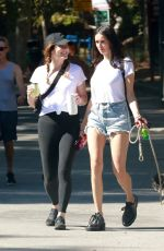 Nina Dobrev Out with a friend in Los Angeles