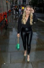 Paige Turley Seen arriving to watch Heathers the Musical in London