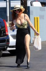 Phoebe Price Shows off her assets at a Vons parking lot in Los Angeles