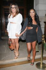 Rachel Finni In a short black dress as she heads out on a girls night with friends at NED nightspot in London