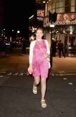 Rachel Riley Spotted leaving the Prince Of Wales Theatre in London