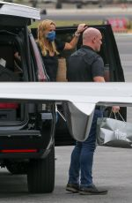 Reese Witherspoon and Ava Phillippe get on a private jet at Van Nuys airport
