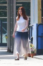 Rose Leslie Looks stylish wearing floral loafers in New York