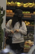 Ruxandra Porojnicu Seen food shopping at the General store on Mediacity in Salford Manchester
