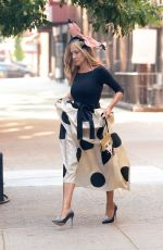 Sarah Jessica Parker Seen at the set of Sex And The City Reboot in New York