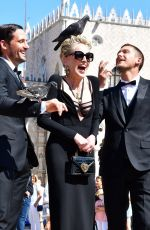 Sharon Stone At a photoshoot for Dolce & Gabbana in Venice, Italy