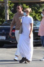 Sofia Richie And her boyfriend Elliot Grainge wear matching outfits while out for fresh juice drinks in Malibu