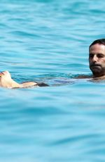 Sylvie Meis Soaks up the sun as they enjoy a boat day in Formentera