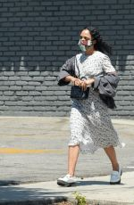 Tessa Thompson Is pictured while out for walk in Los Angeles
