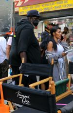 """Teyana Taylor Pictured at the """"A Thousand and One"""" set in Harlem, Manhattan"""