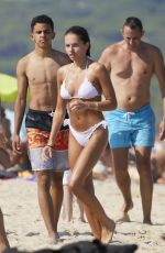 Thylane Blondeau Seen at Club 55 while vacationing in Saint-Tropez