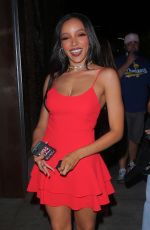 Tinashe Puts on a leggy display while spotted leaving dinner at TAO in Los Angeles