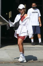 Vanessa Hudgens & bestie GG Magree pictured exiting the DogPound Gym in West Hollywood