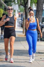 Vanessa Hudgens & GG Magree Team up for a morning workout at Dogpound in West Hollywood