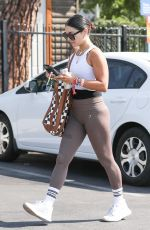 Vanessa Hudgens Starts the week with a work out at Dogpound gym in West Hollywood