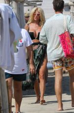 Victoria Silvstedt Arrives at the club 55 beach in Saint-Tropez, France