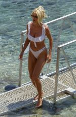 Victoria Silvstedt Spotted in sexy white bikini on a beach in Mykonos