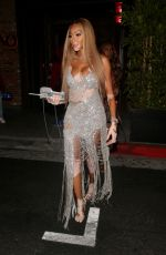 Winnie Harlow Stuns in diamond glittered gown while spotted leaving a belated birthday dinner at TAO in Los Angeles