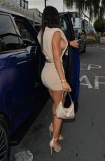 Yazmin Oukhellou Arriving back in the uk getting out of her new Range Rover Overfinch as she heads for dinner in Essex